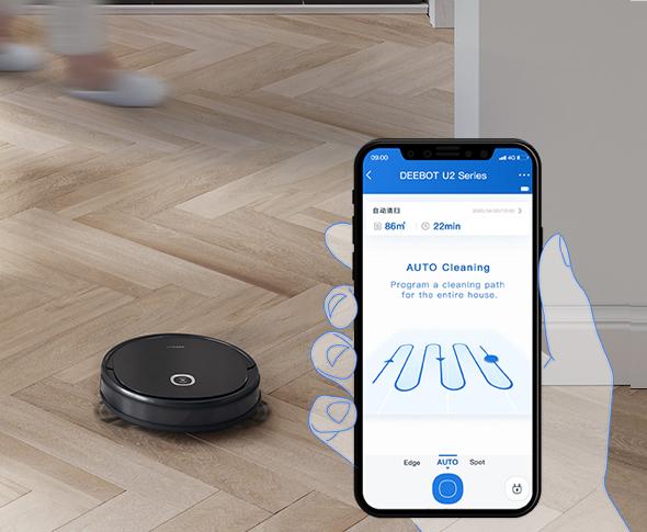 Robot hút và lau nhà kết nối điện thoại