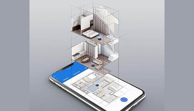 Deebot T8 AIVI lập bản đồ nhiều tầng