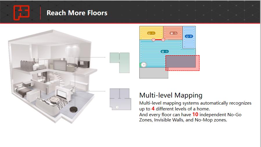 Robot xiaomi s6 max v lưu bản đồ đến 4 tầng